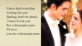 A Thousand years- Christina Perri - Lyrics