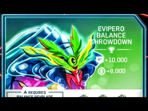 Beyblade Burst Evolution Hasbro App:  Evipero Balance Throwdown