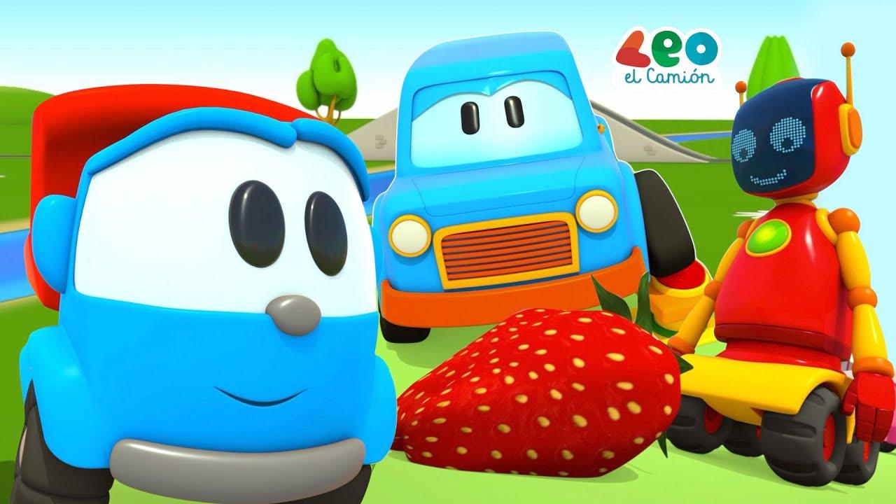 Leo el Camión y Coches Inteligentes - La hora de comer - Videos educativos para niños