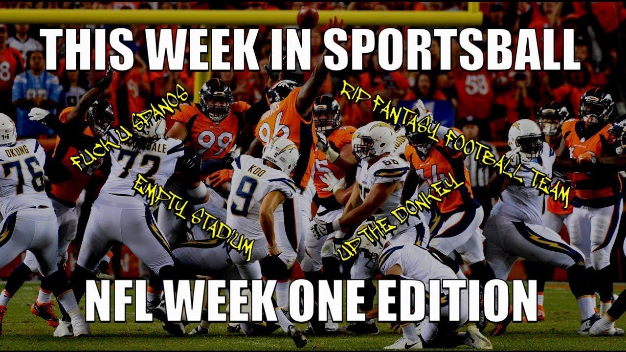 This Week in Sportsball: NFL Week One Edition