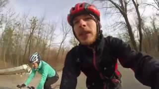 Открытие вело сезона 2017 на Житомирке с Викой   The start of bicycle season in Kiev, first 100 km