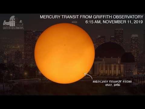 Mercury Transit from Griffith Observatory