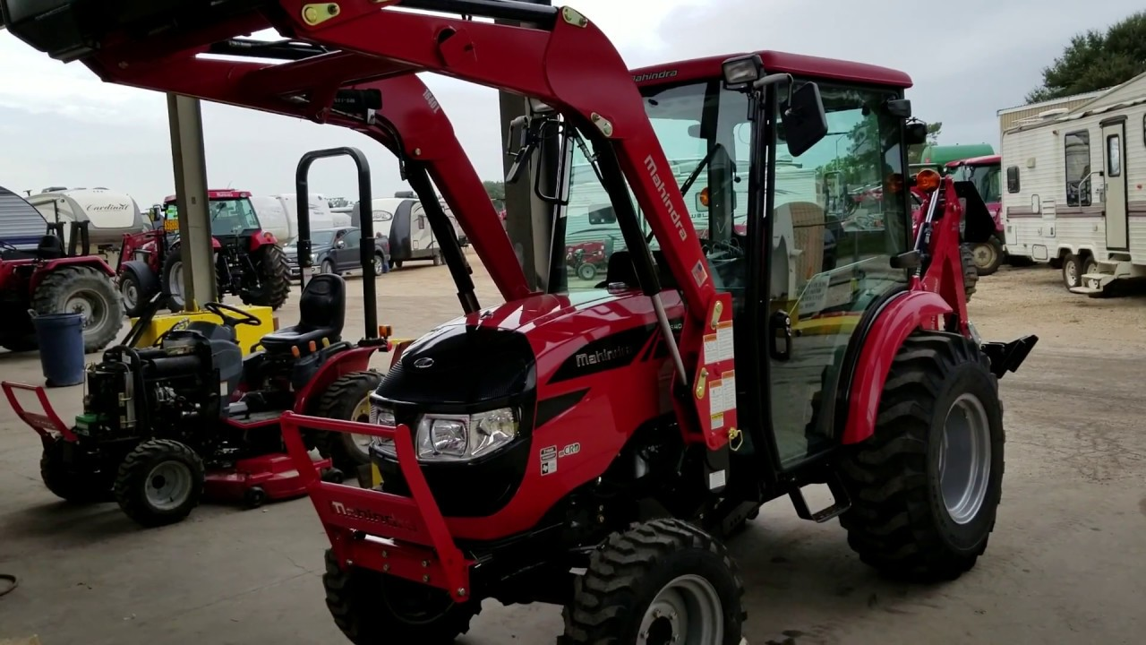 The new Mahindra 1640 HST cab tractor w/loader & backhoe, replaced the 1538  H St