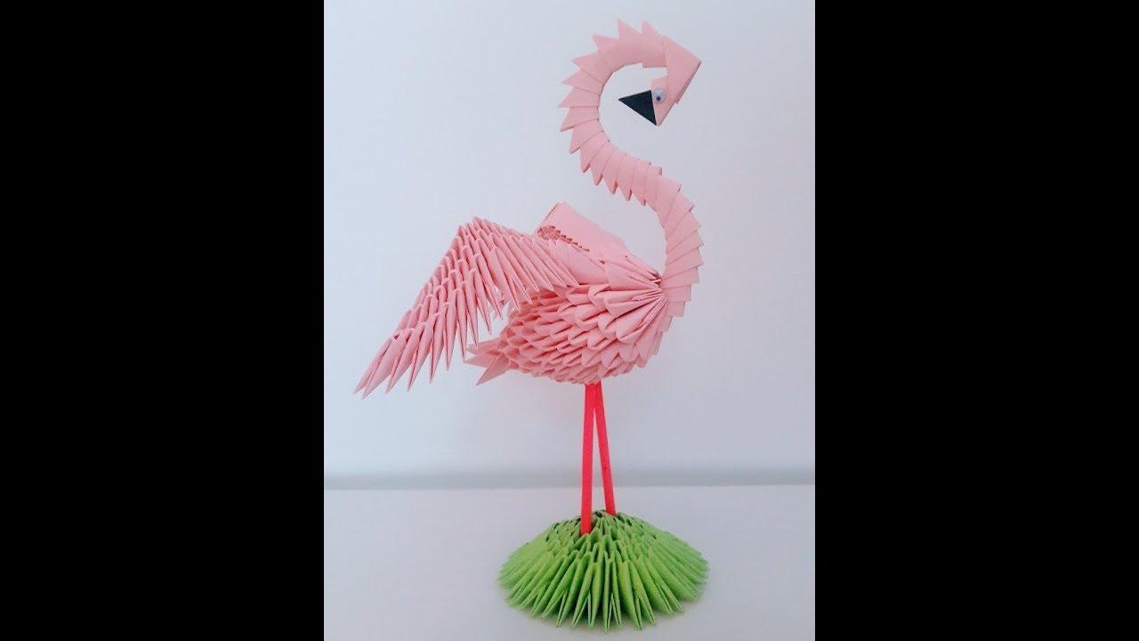 medium resolution of how to make 3d origami flamingo
