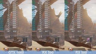 GeForce GTX 1660 vs Radeon RX 590 vs Radeon RX 580 - Apex Legends (Ryzen 5 2600)