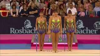 Бронзов медал за България - обръчи и бухалки - Световно първенство по художествена гимнастика