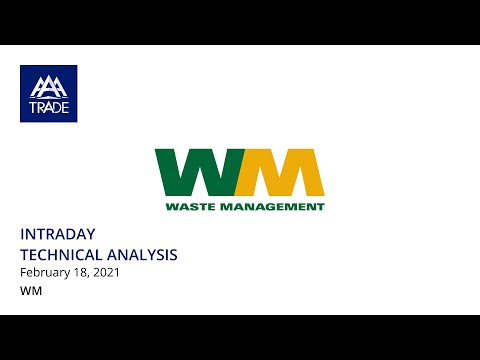 Intraday Technical Analysis by AAATrade, Waste Management , 18/02/2021