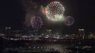 記念すべき第1回の「東京花火大祭~EDOMODE~」2018の打ち上げスタート