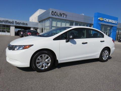 Awesome 2012 Honda Civic DX White