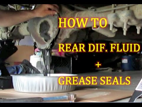 How To Rear Differential Fluid Change 1998 2001 Dodge Ram