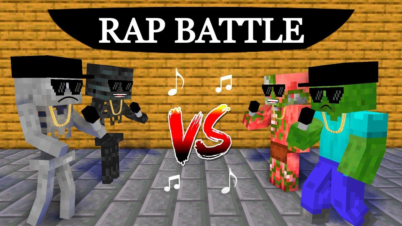 Monster School : Rap Battle - Minecraft Animation