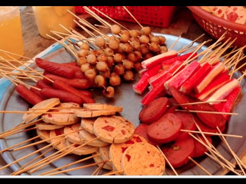 Street foods at Toun Fa School in Phnom Penh city