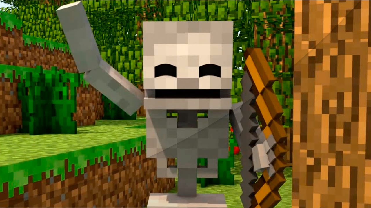 vingança do esqueleto animação minecraft skeleton revenge