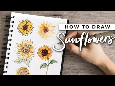 How To Draw Sunflowers! | DOODLE WITH ME + Tutorial!
