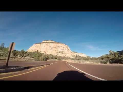 Highway 9 through Zion National Park Utah, From South Entrance (Springdale) to Zion East Entrance