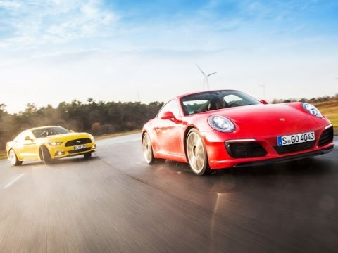 ford mustang gt vs porsche 911 carrera s youtube. Black Bedroom Furniture Sets. Home Design Ideas