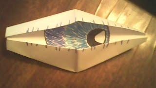 Как сделать глаз оригами(В етом видео я вам покажу как сделать глаз из бумаги Приятного просмотра., 2014-08-25T16:12:06.000Z)