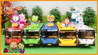 장난감TV 시내버스 유치원버스 경찰버스 장난감 뽀로로와친구들 공항출발 놀이 애니메이션 동영상 Doll Pororo Animation