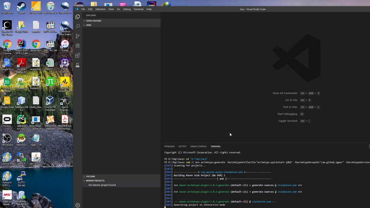 Tutorial : Using Visual Studio Code (VSCode) for Java Maven Project