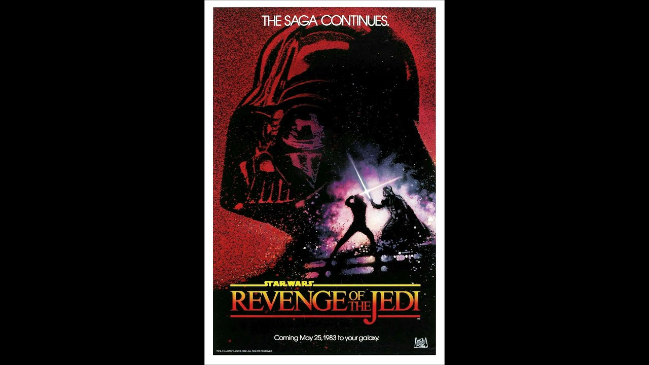 Rare return of the jedi movie poster