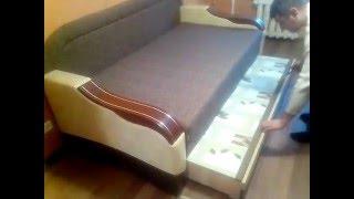 Диван Эфес Мебельная фабрика Диванофф(Диван Эфес 180, раскладка дивана выездной вперед, есть большой ящик для белья., 2016-02-18T11:30:04.000Z)