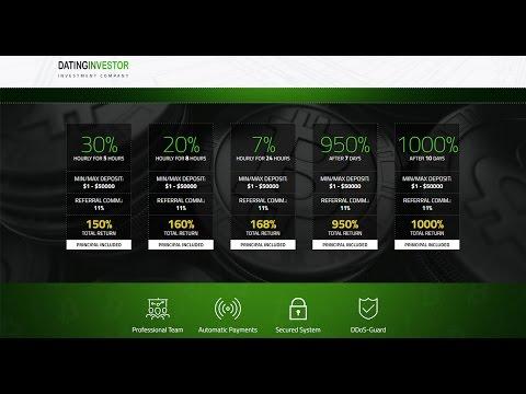 DATINGINVESTOR – INVESTMENT PROGRAM 22% - 30% Hourly for 5 Hours!!!