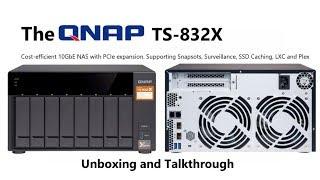 Qnap Desktop NAS TS-832X-8G 8-Bay, RAID 0/1/5/6 (8GB RAM) + 10GbE SFP+