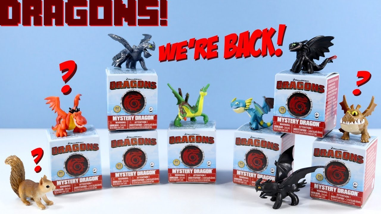 How to Train Your Dragon Mystery Dragons Blind Boxes Review & Codes Spin Master