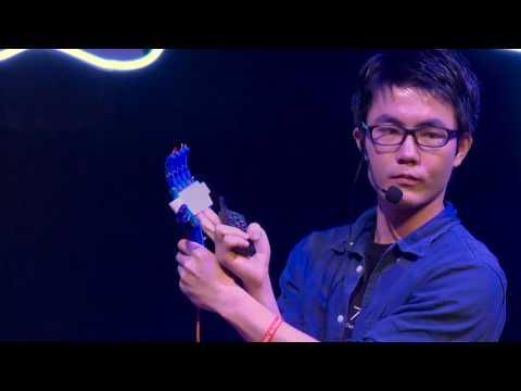 How 3D Printing helps Hand-Disabled Kids | Gene Zhang | TEDxZhujiangNewTown