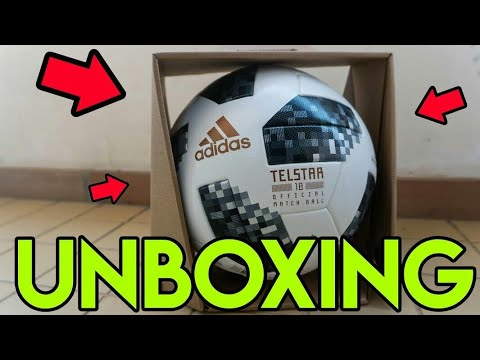 b56380b6f4 ADIDAS TELSTAR 18 OFFICIAL MATCH BALL (Bola Oficial do Mundial 2018) -  UNBOXING 4K