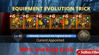 clash of kings: Equipment evolution trick -  evolve gold equipments with zero fails