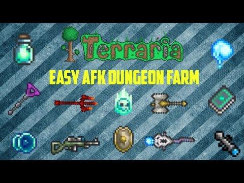 Terraria ios 1.2.4 | AFK Dungeon Farm/Ectoplasm farm (Working 2017)