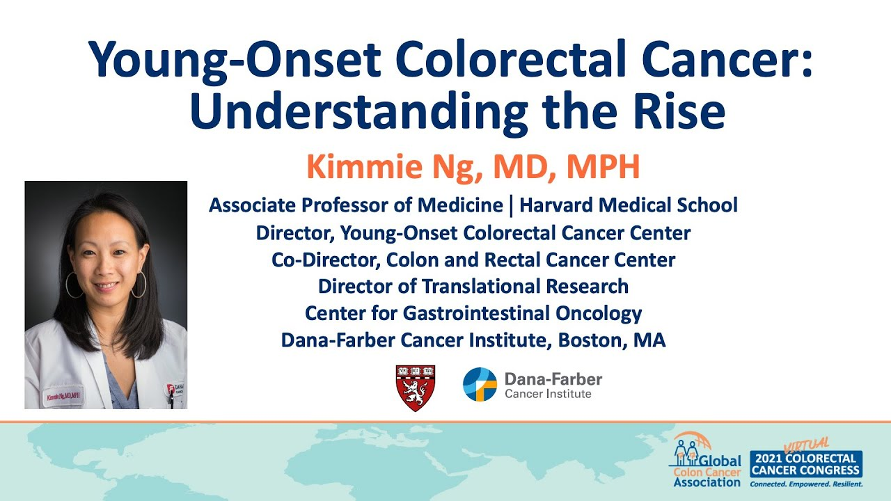 Young-Onset Colorectal Cancer: Understanding the Rise. Presenter: Kimmie Ng, MD, MPH.