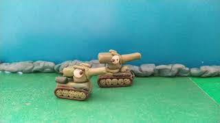 Атака советских танков   мультики про танки из пластилина