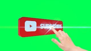 Top 10 Subscribe Buttons Green Screen 3D Animation
