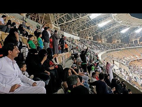 Saudi women attend football match for first time