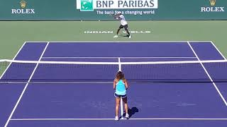 Naomi Osaka Volley and Overhead practice at Indian Wells with NEW COACH!!! Indian Wells 2019
