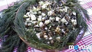Салат из морской капусты и огурцами.sea kale salad #вкусняшки #салат #salad #яхудею #kale