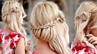Праздничная/вечерняя/свадебная причёска с плетением, на длинные волосы, своими руками(Я пользуюсь накладными прядями на заколках http://www.GlamTimeHair.com о которых подробно рассказываю в http://www.youtube.com/watch..., 2013-12-05T11:40:28.000Z)