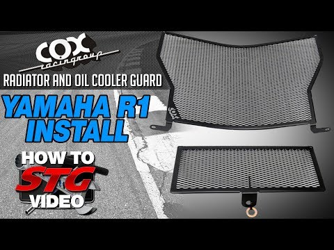 How to install a Cox Racing Radiator and Oil Guard on a 15-17 Yamaha YZF-R1 from STG