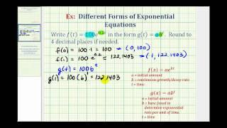 Eski: Üstel Fonksiyonlar Yeniden: (kt) y = ae^ = ab^t y