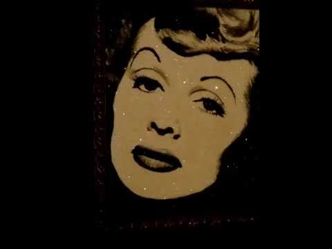 I Love Lucy Painting With Crushed Glass