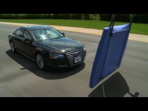 Collision warning systems at the test track   Consumer Reports