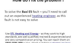 baxi e5 error