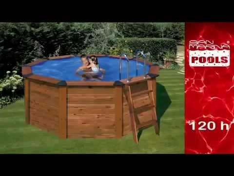 Chez habitat et jardin piscine acier bois ronde natur for Piscine bois habitat et jardin