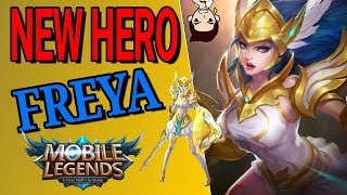Mobile Legends New Hero FREYA ( BUILD / Gameplay / HIGHLIGHTS)