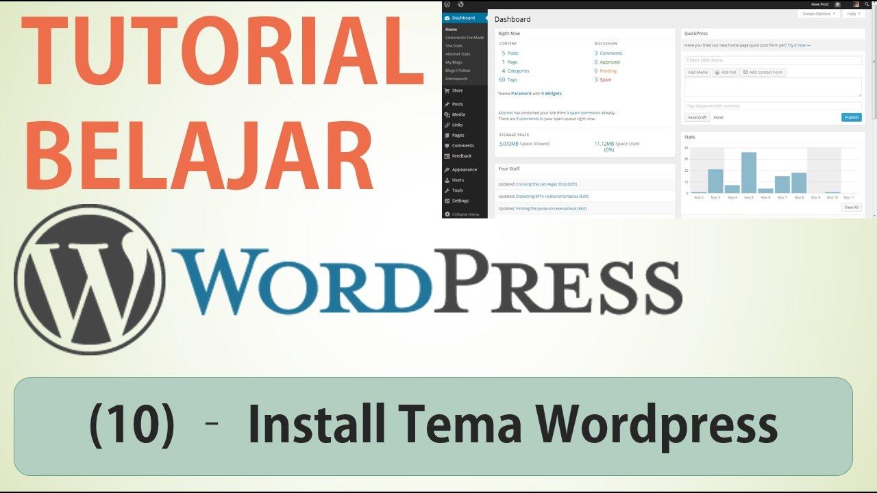 Cara Install Tema Wordpress / Wordpress Theme | Tutorial Wordpress ...