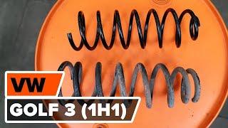 Hur byter man Fjäder VW GOLF III (1H1) - videoguide