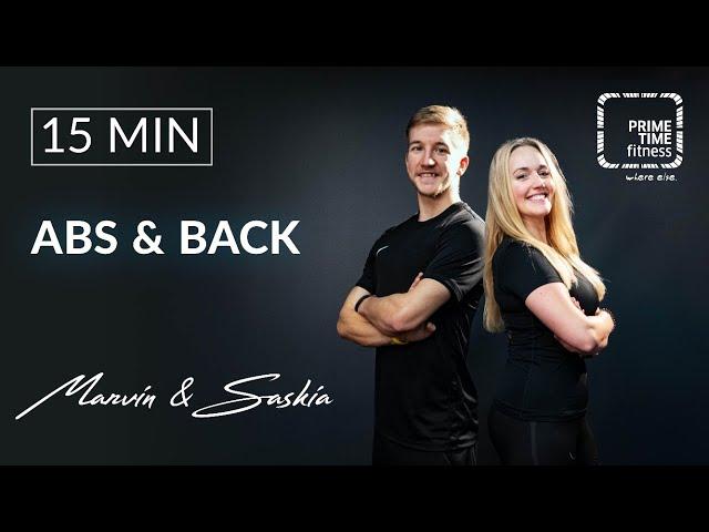 Abs & Back mit Saskia & Marvin - Homeworkout - Lockdown Training