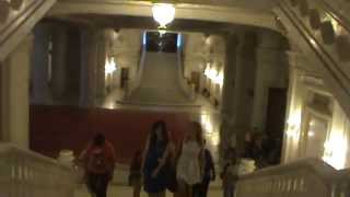 The Palace of Parliament Bucharest Romania Main Staircase